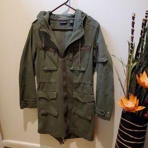 Army green canvas jacket